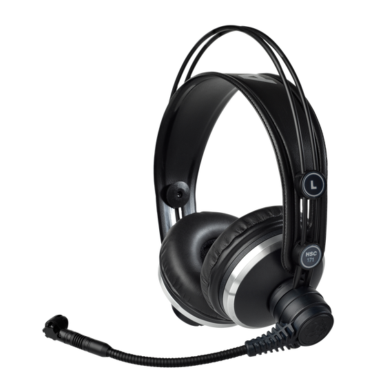 HSC171 - Black - Professional on-ear headset with condenser microphone - Hero