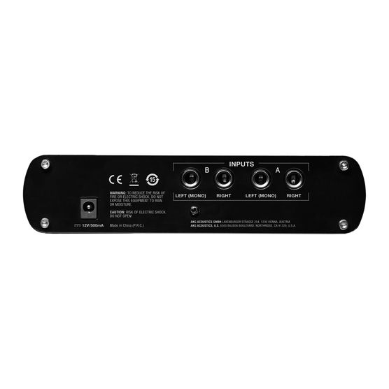 HP4E - Black - 4-channel headphone amplifier - Back