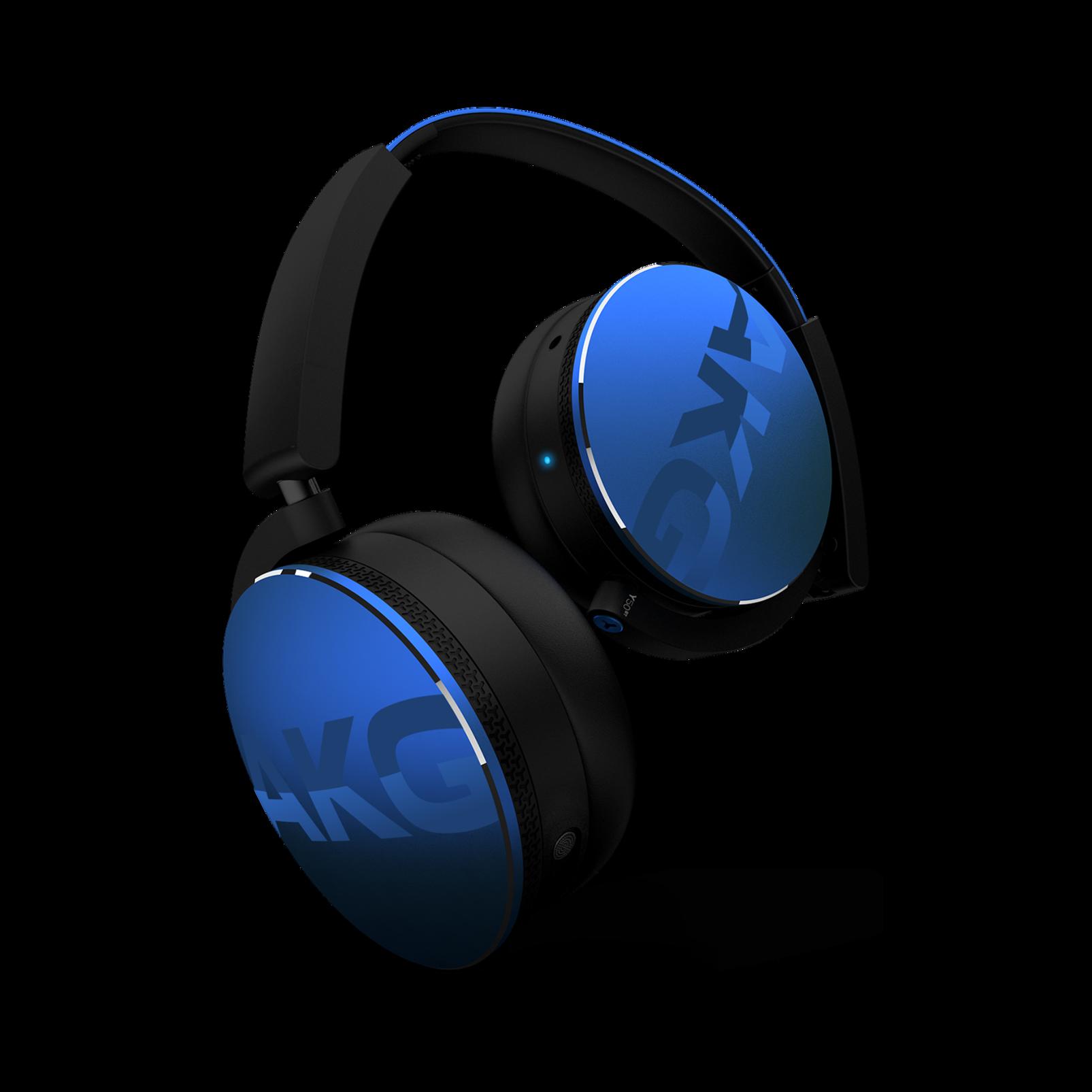 Y50BT - Blue - Premium portable Bluetooth speaker with quad microphone conferencing system - Detailshot 3