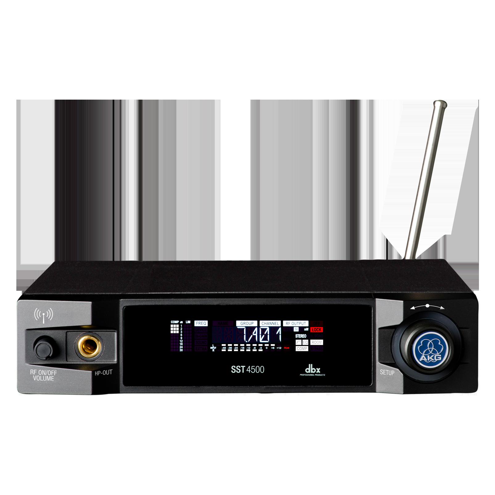 SST4500 IEM - Black - Reference wireless in-ear-monitoring stereo transmitter - Hero
