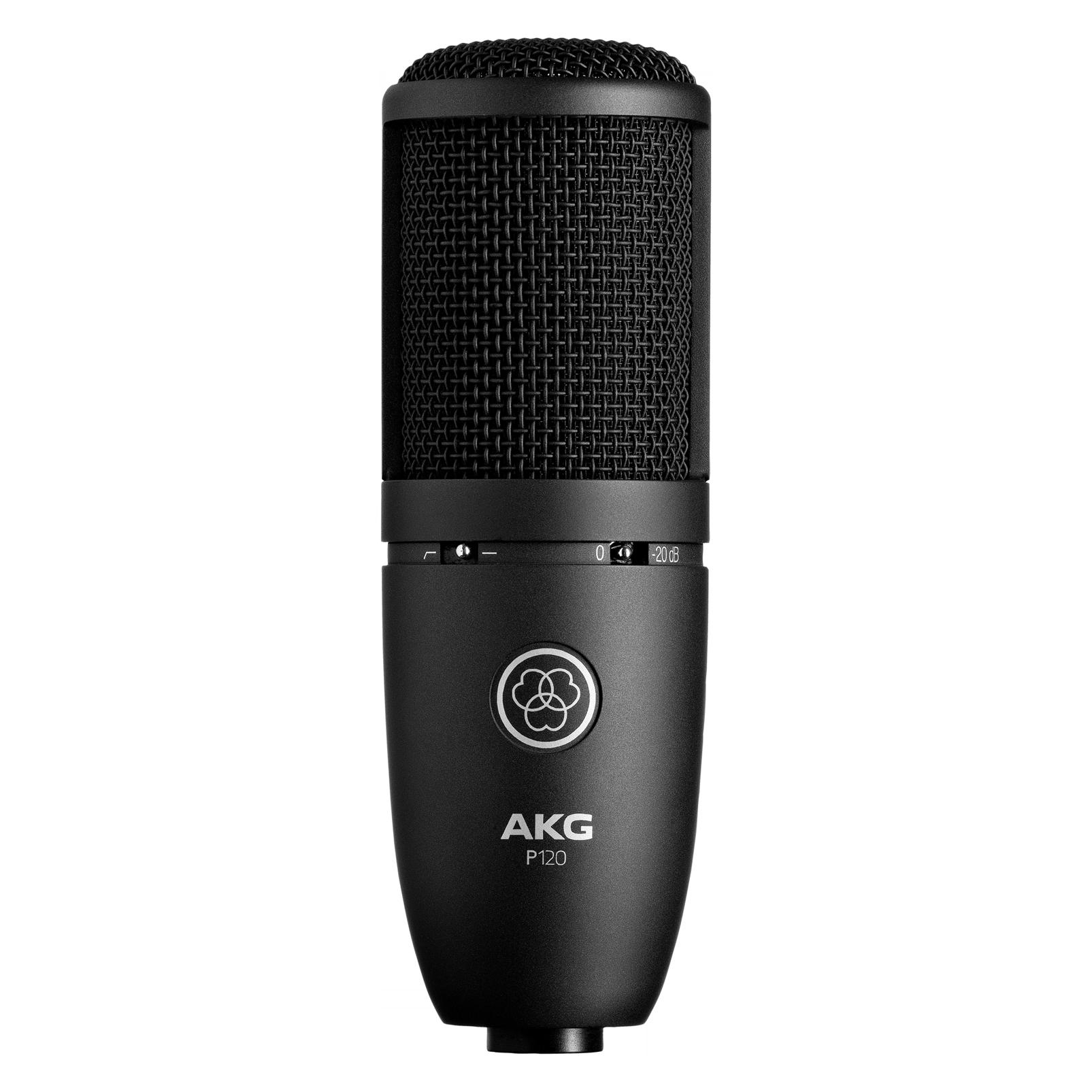 P120 - Black - High-performance general purpose recording microphone - Hero