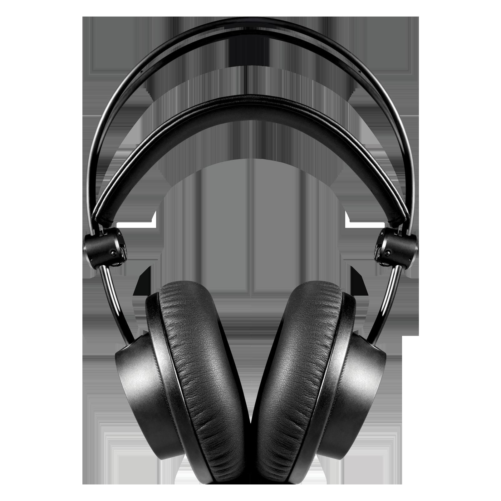 K275 - Black - Over-ear, closed-back, foldable studio headphones - Front