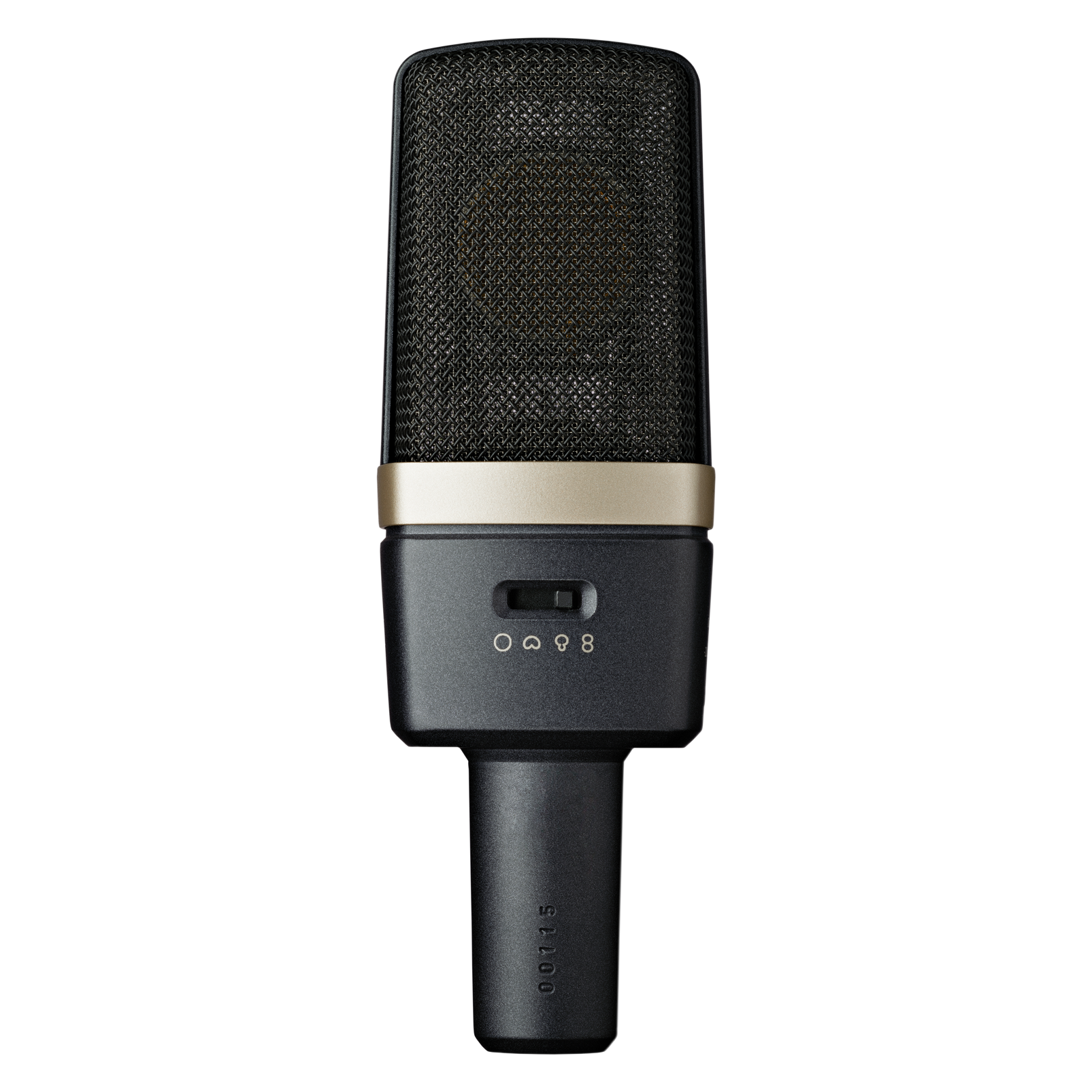 C314 - Black - Professional multi-pattern condenser microphone - Back